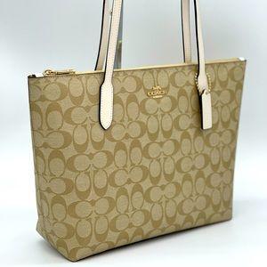 Coach Signature Zip Tote Bag